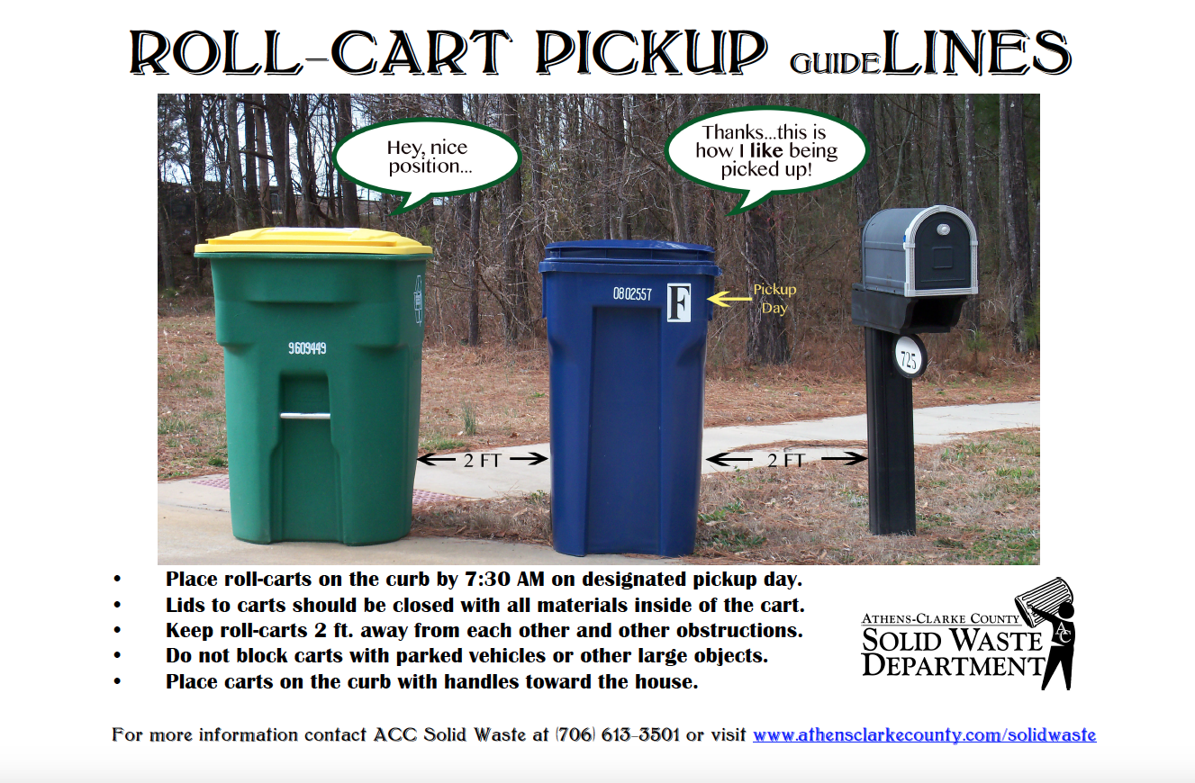 Roll-cart Pickup guide Lines