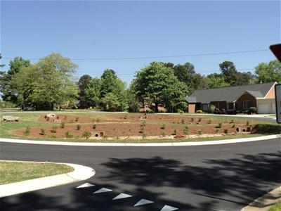 Completed Ponderosa Drive roundabout