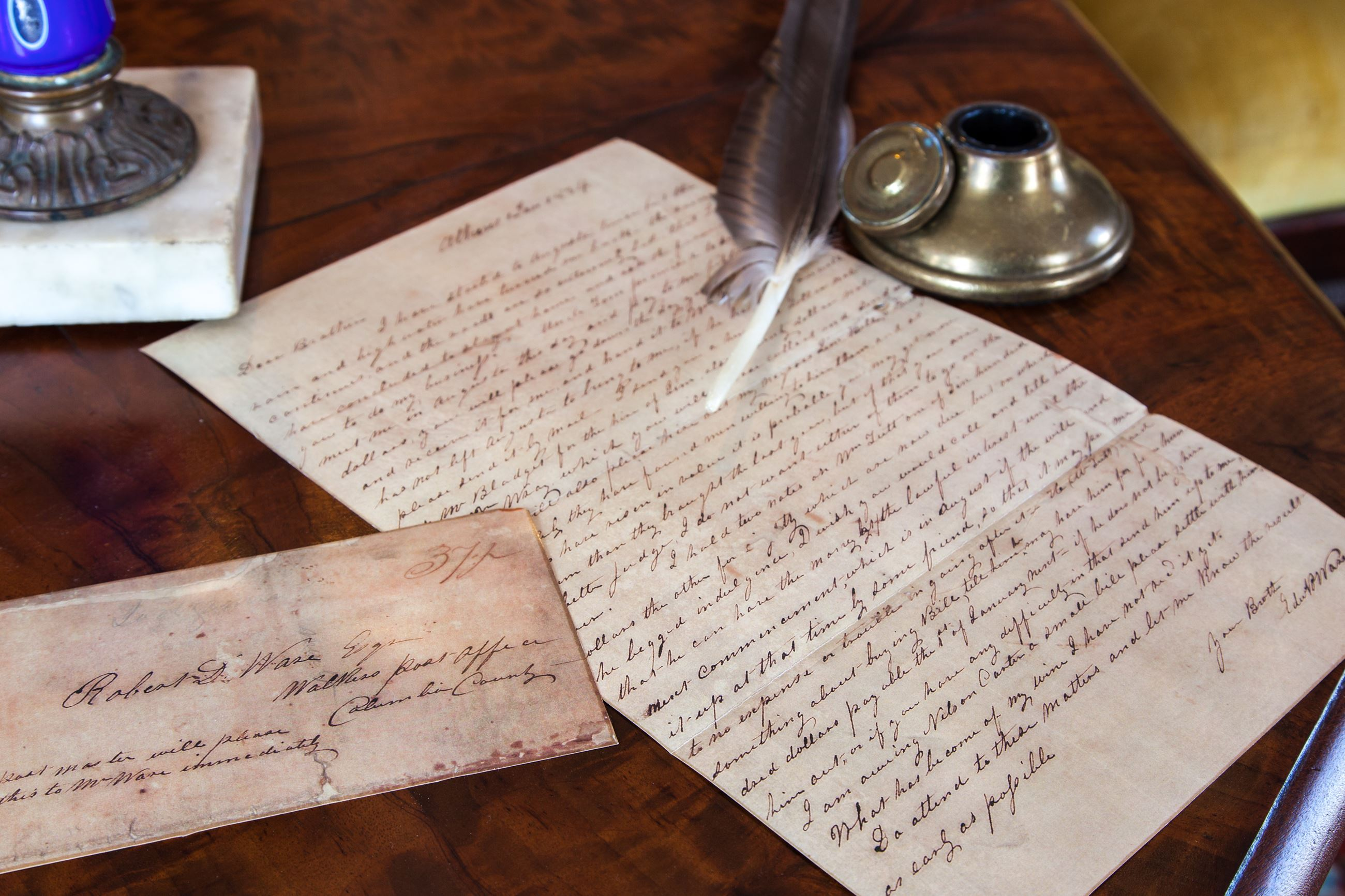 Ware Lyndon Historic House-Letter written by Edward Ware to his brother