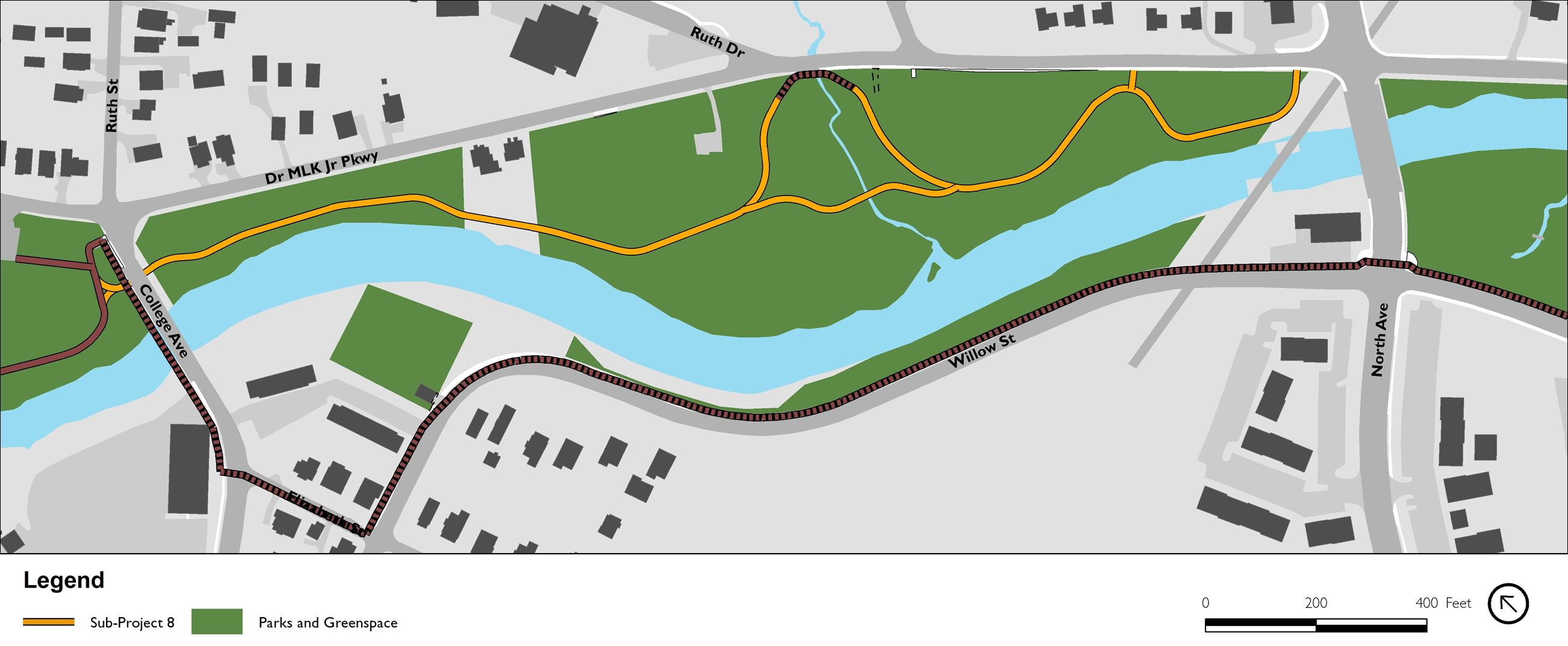 MLK Greenway Extension Map