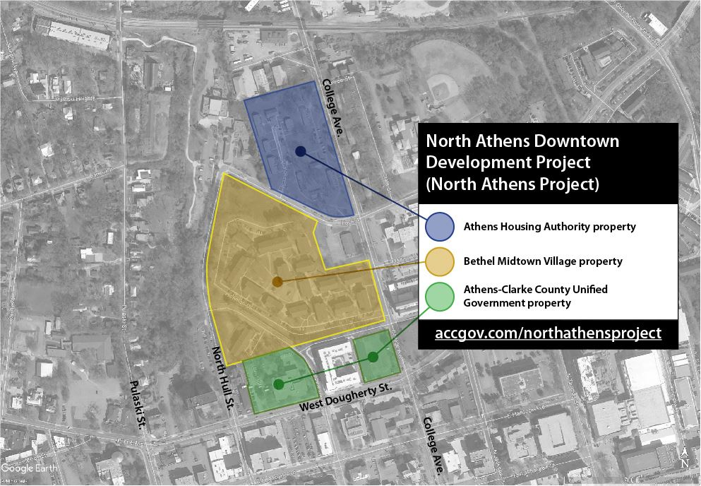 North Athens Downtown Development Project Map