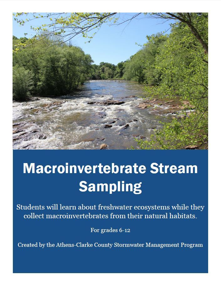 Macroinvertebrate Stream Sampling cover sheet