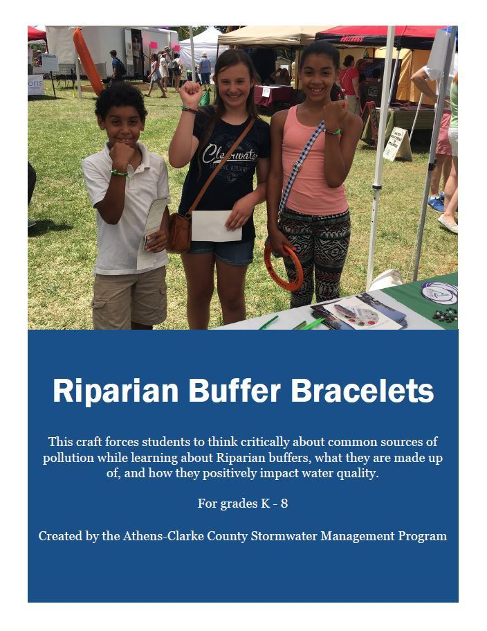riparian buffer bracelets cover sheet
