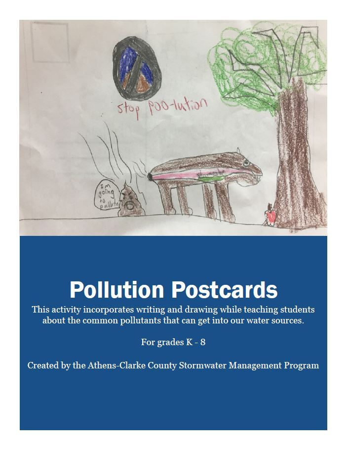 STEAM pollution postcards cover sheet