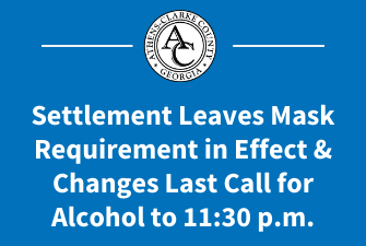 Settlement Leaves Mask Ordinance Requirement in Effect, Changes Last Call to 11:30 p.m.