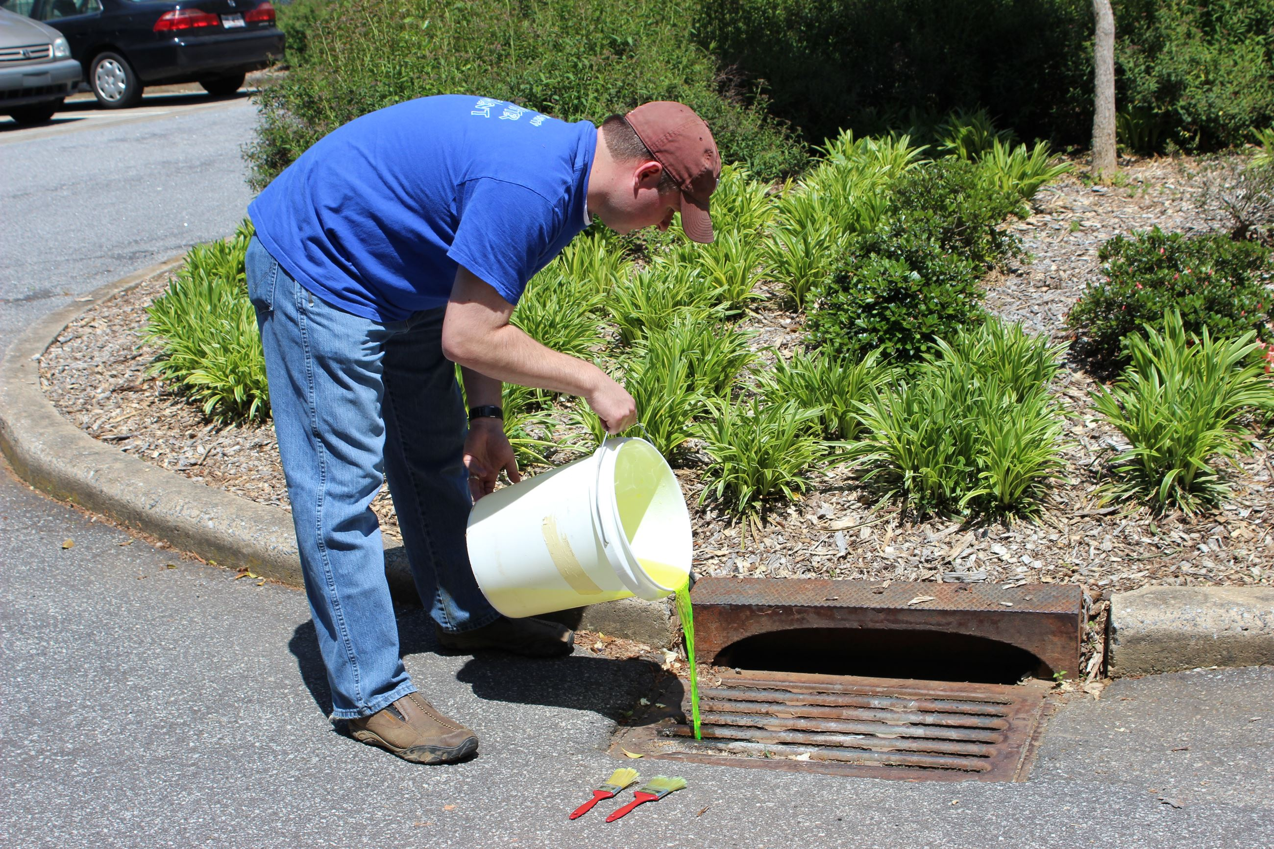 paint down storm drain illicit discharge