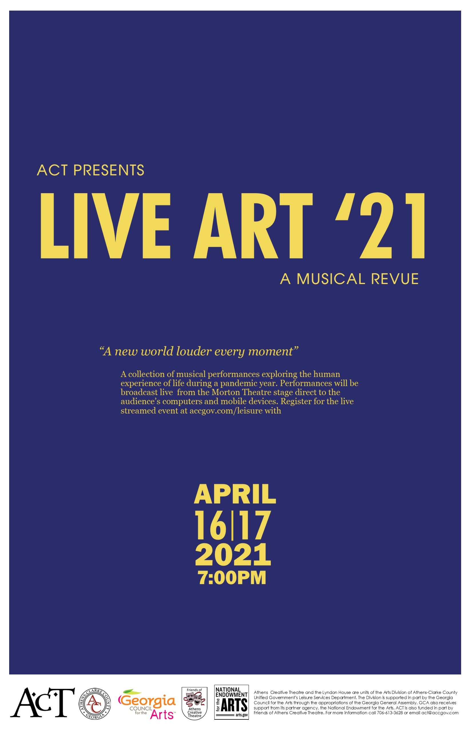 ACT Full Size Poster Purple Yellow