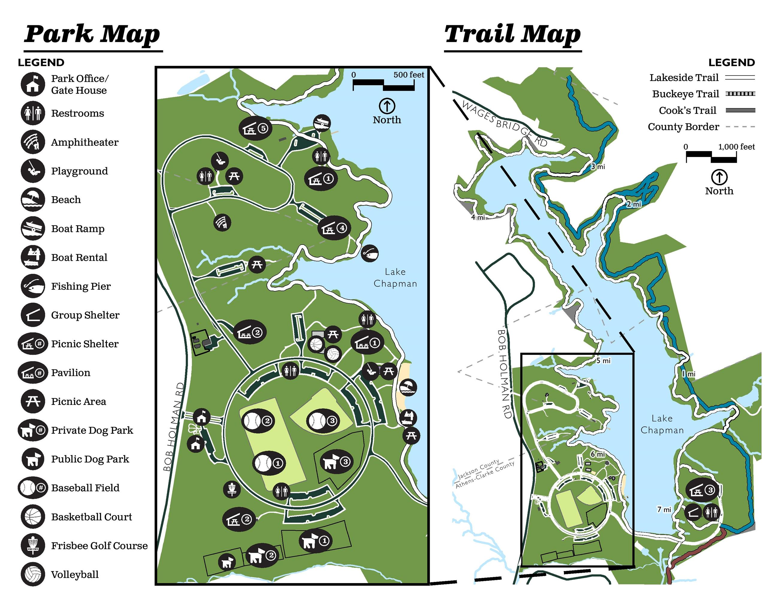 Color Map of Sandy Creek Park