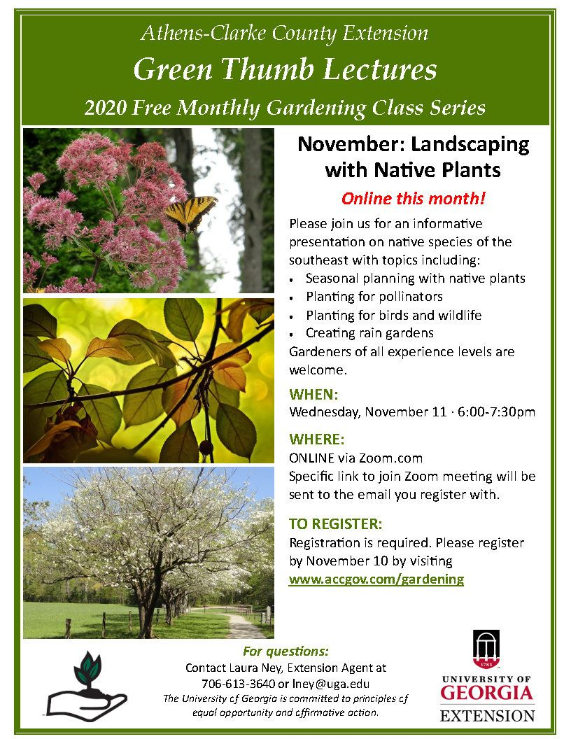 November 2020 Landscaping with Native Plants