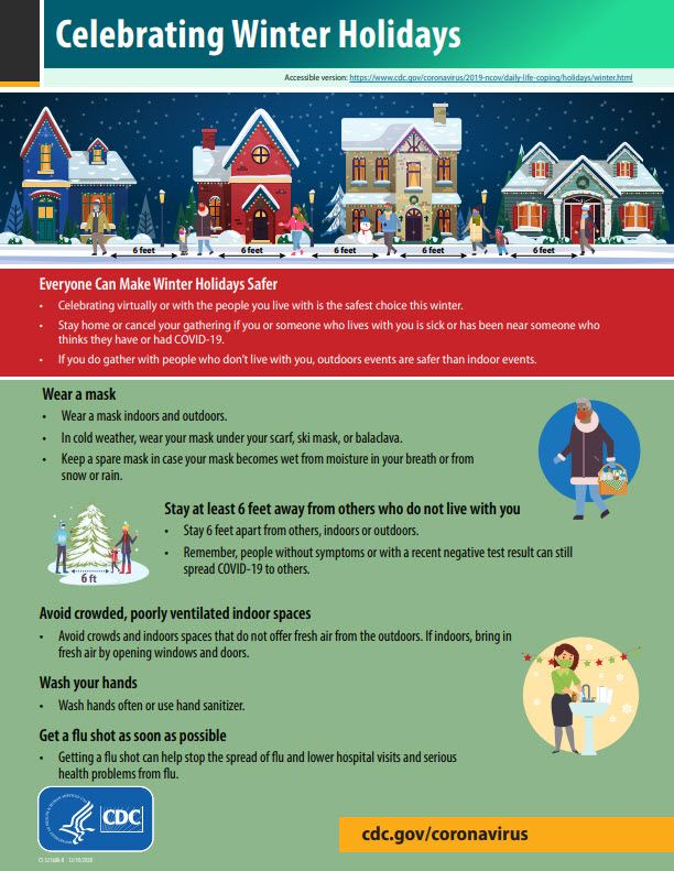 CDC Holiday Safety Flyer