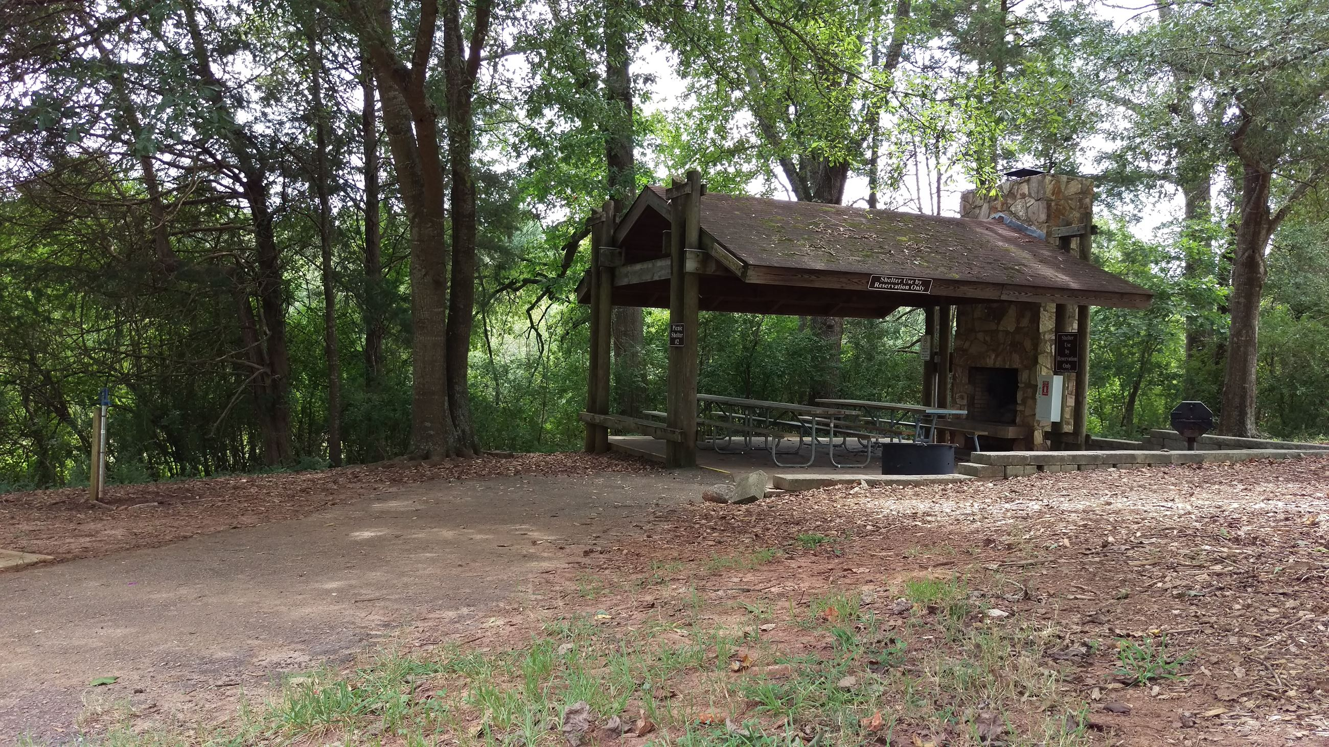 Photo of Picnic Shelter 2 at Sandy Creek Park.
