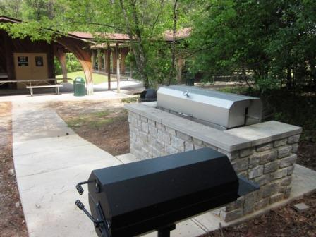 Photo of the grill area at Pavilion 2.